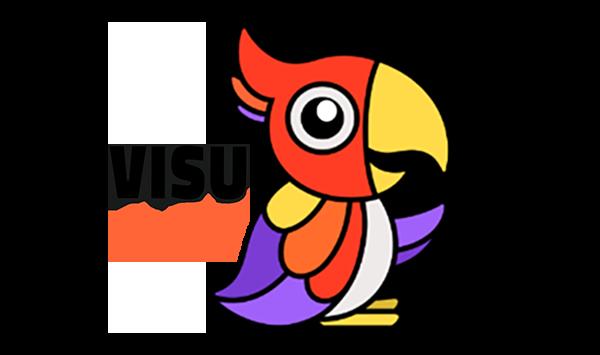 Visu-opisto logo kuva ja teksti 400 px